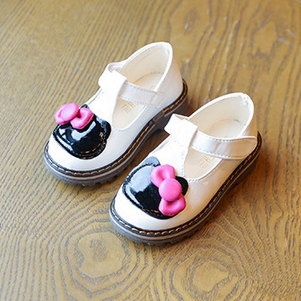 Sweet Children Shoes Soft and Flat Sole Bowknot Anti-slip Round Toe For Girls