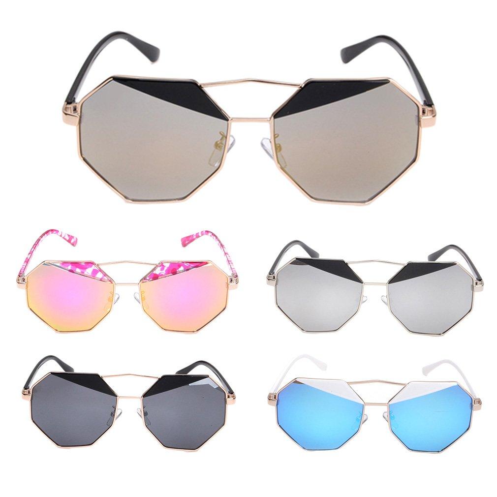 Unique Design Fashion Sunglasses Unisex Sun Shades Polygons Metal Glasses