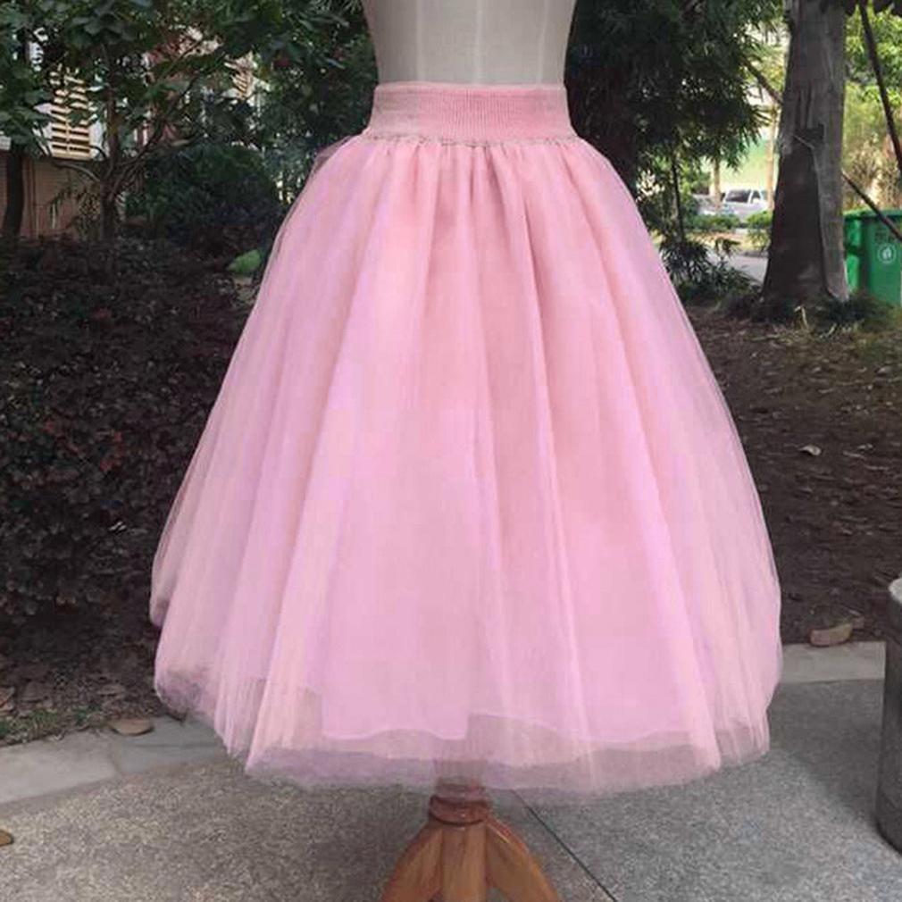 New Womens Elastic Dirndl Waist Chiffon Fluffy Soft Long Skirt Summer Party