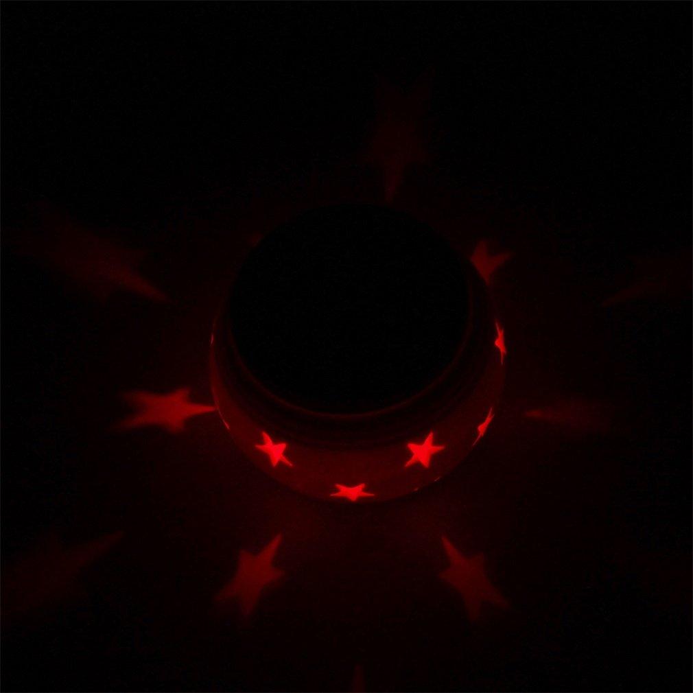 Stars Ceramic Color-Changing Led Solar Powered Light Garden Romantic Lamp