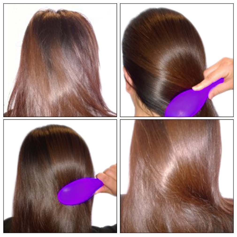 Solid Color Electric Hair Brush Hair Straightener Hair Comb Auto Hair Massager