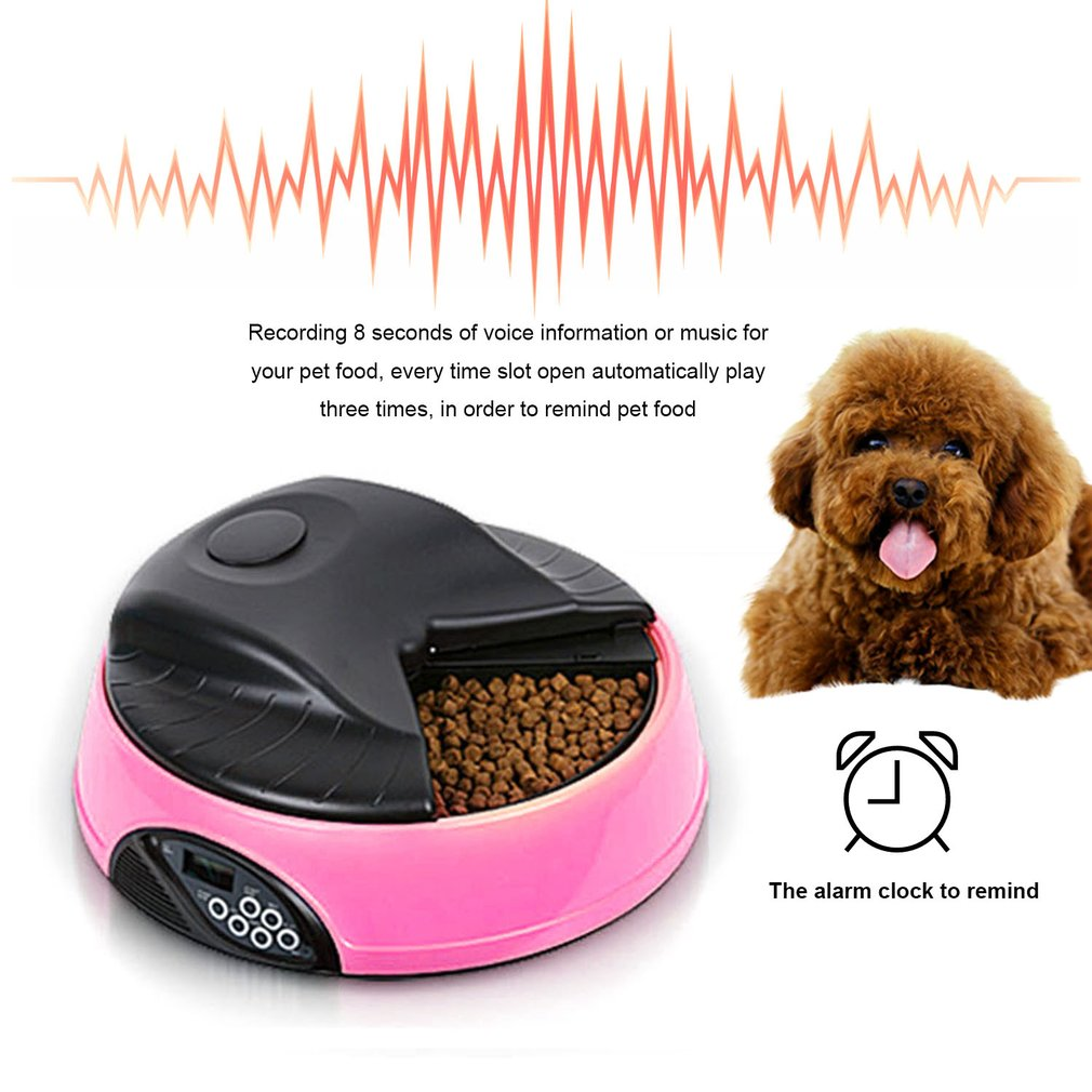4 Meals Automatic Pet Feeder Food Trays Bowl Dispenser Setting Fixed Time