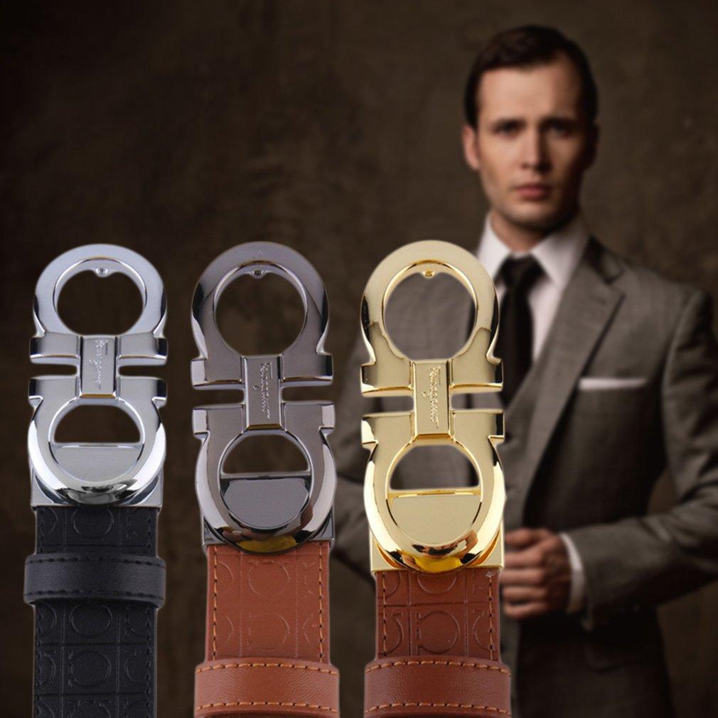 Luxury Men's Alloy Buckle Waistband PU Leather Belt Waist Strap Great Gift