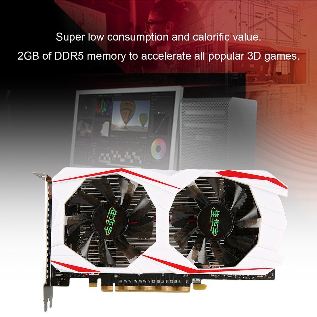 2GB DDR5 128Bit PCI-Express VGA/DVI/HDMI Video Graphics Card With Dual Fans For GTX 750Ti Desktop Computer Accessories