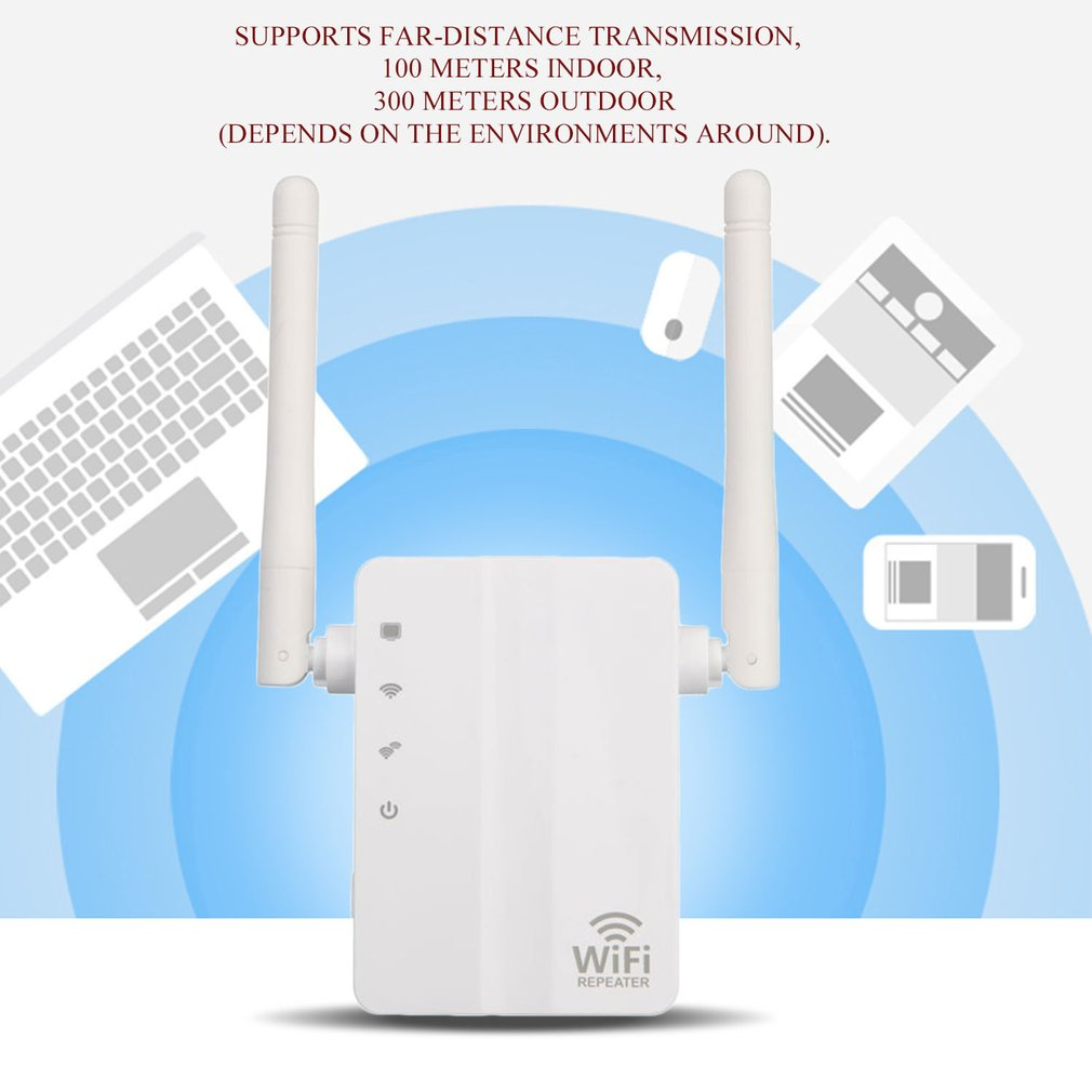 750Mbps 2.4G + 5G WiFi Repeater Home Travel Wireless Router Signal Booster