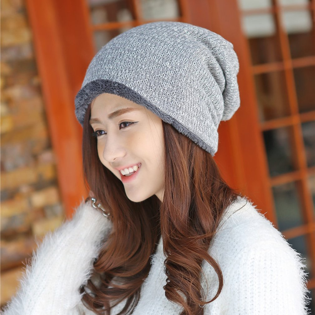 Winter spring Autumn Outdoor Men and Women's knitted Cap Thick Warm Wool Hat