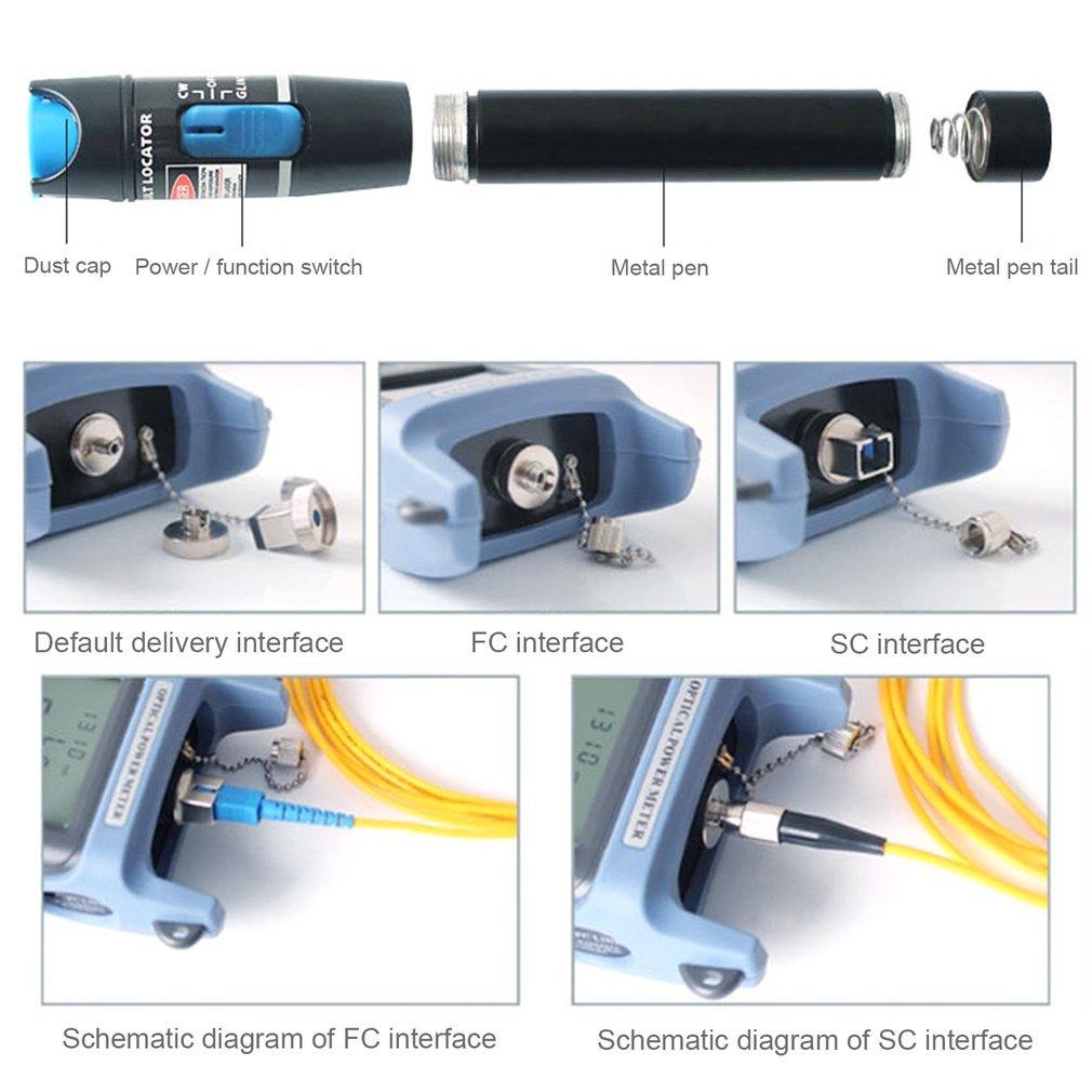 5Km Fiber Optic Test Instrument+Locator Pen Proofread Function 7 Wavelengths