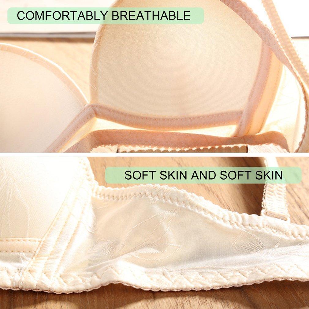 Ultra Thin Breathable Design Women Push Up Seamless Bra No Steel Ring Bra