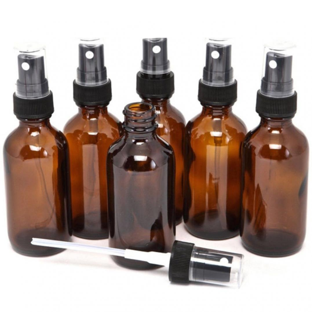 5ML-100ML Beauty Empty Amber Glass Bottle Essential Oil Mist Spray Container Case