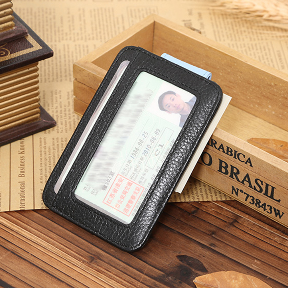 JINBAOLAI Man Purse Cards Soft Wallet Cow Leather Horizontal Buckle Opening