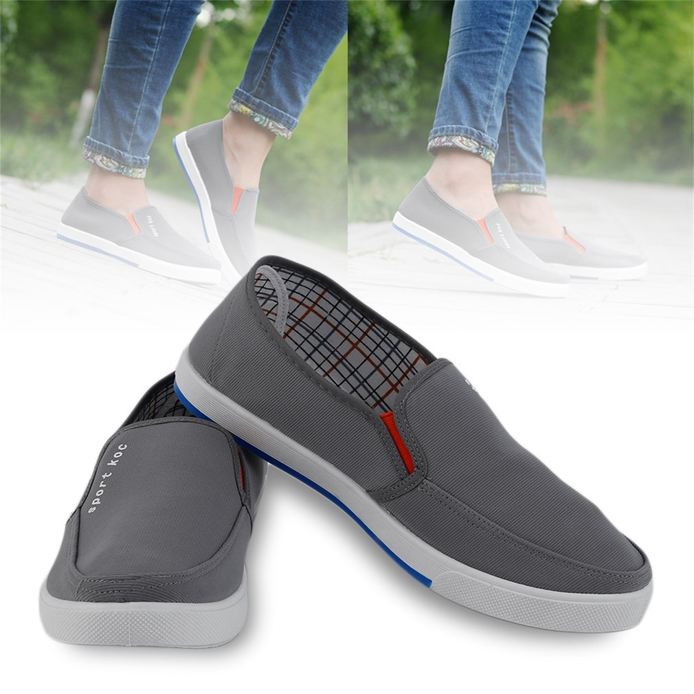 A16 Fashion Summer Style Men Loafers Breathable Comfortable Mesh Cloth Shoes