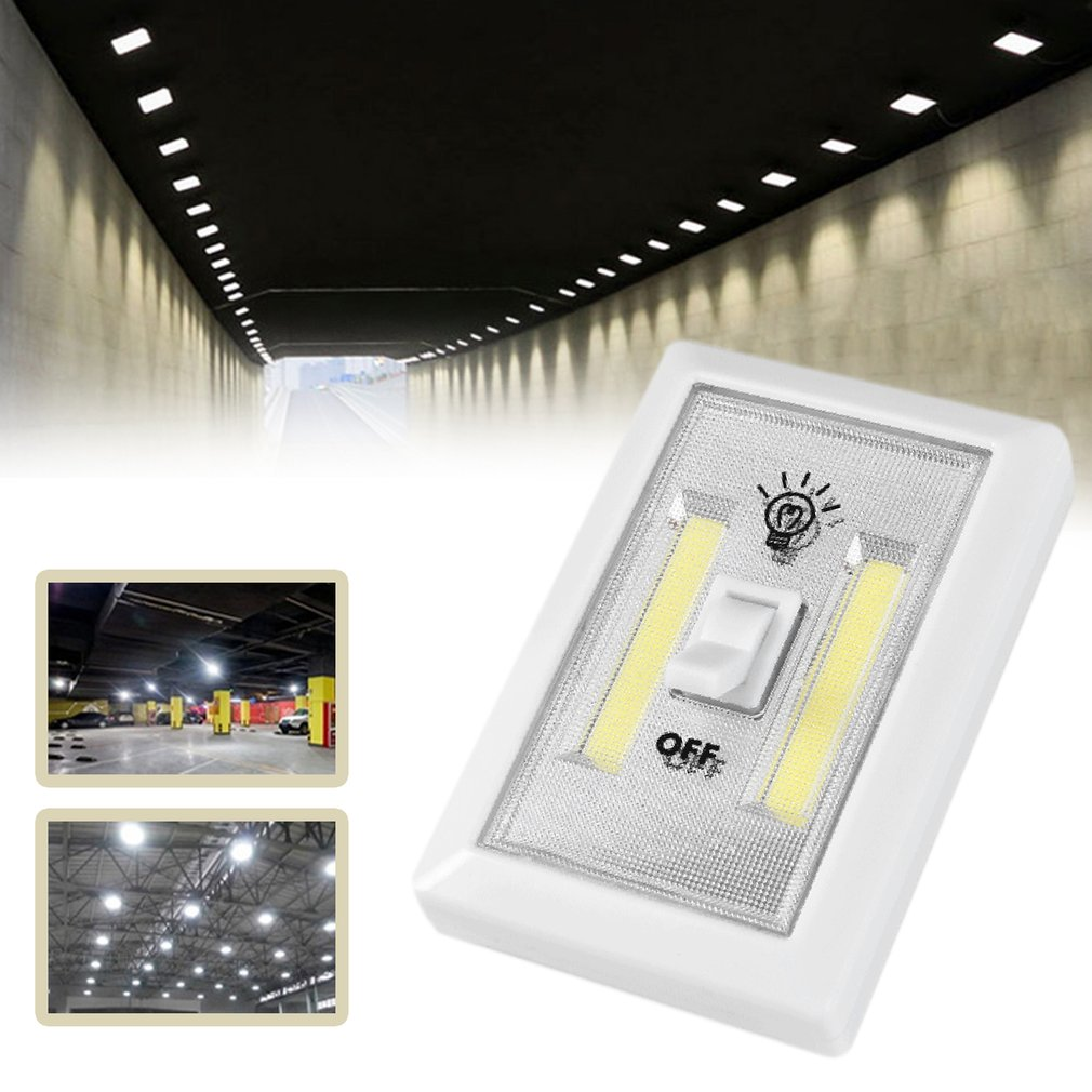Multifunction Square COB Wall Light Aisle Cabinet Lamp For Emergency Lighting