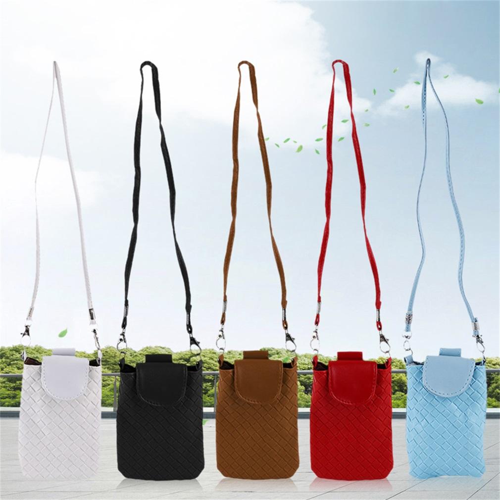 Korean Leather Mini Phone Messenger Bag Women Girl Satchel Crossbody Purse