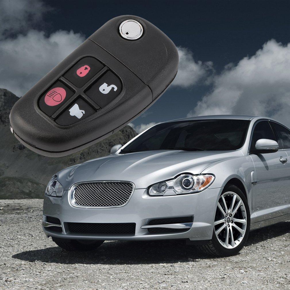 Hot Keyless Shell Folding Remote Key Case Cover Fob 4 Button For Jaguar Key
