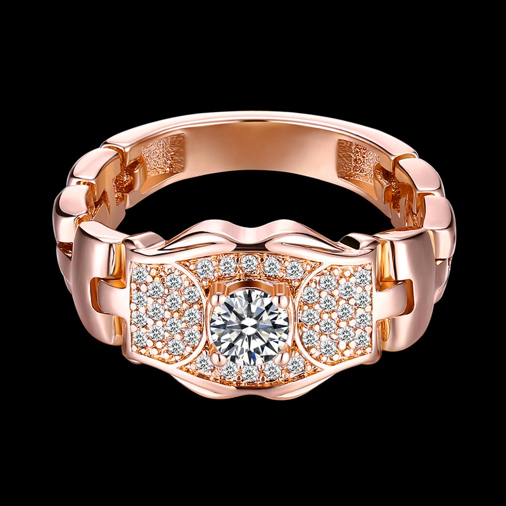 Women Watch Bands Rings Cubic Zirconia Rings Luxurious Jewelry Wedding Ring