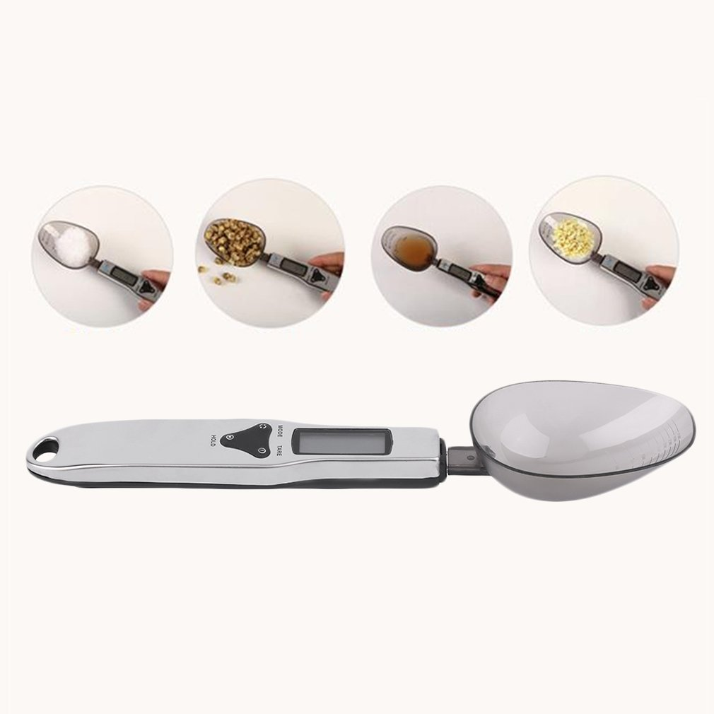 500g/0.1g Digital Kitchen & Lab Electronic Double Spoon Food Weight Scale